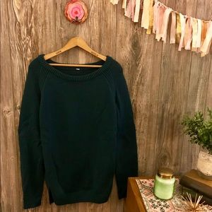 {lululemon athletica} teal green knitted sweater l